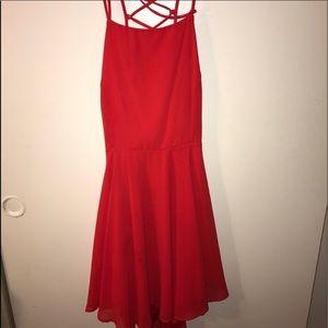 Lulu's Red lace back dress 🔥
